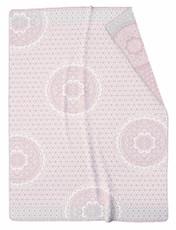Biederlack Wohndecke Allure 150 x 200 cm rosé Baumwollmischung Mandala Style