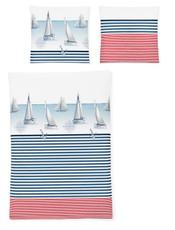 Irisette Bettwäsche Seersucker Calypso 8089-90 maritim 100% Baumwolle bügelfrei