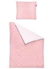 freundin Mako-Satin Bettwäsche Corado  8947-60 rosa geometrisches Muster