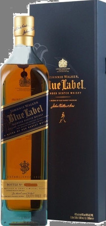 Johnnie Walker Blue Label - Blended Scotch Whisky 40%Vol. 1x1,0L