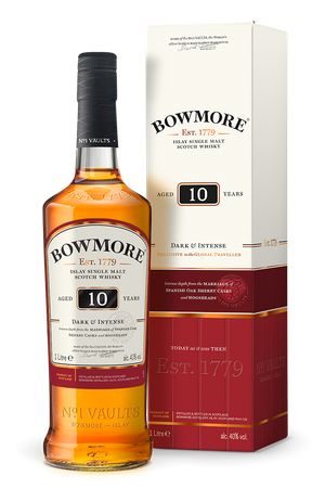 BOWMORE 10 Years - DARK & INTENSE - Single Islay Malt Whisky 40% 1x1,0L