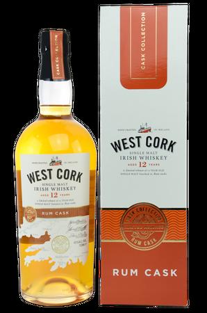 West Cork 12 y.o. Rum Cask - Single Malt Irish Whiskey - 1x0,7L 43%