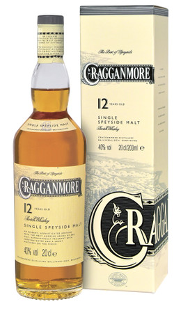 CRAGGANMORE 12 Years 40% Vol 1x0,2L Single Malt Whisky