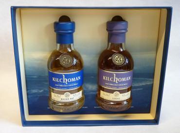 KILCHOMAN Gift Set 1xMachir Bay 0,2L + 1x Sanaig 0,2L je 46%Vol Islay Single Malt Whisky  – Bild 3
