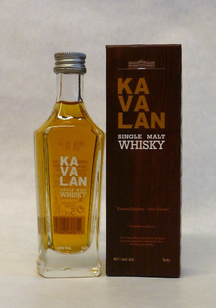 KAVALAN - Single Malt Whisky Taiwan 40%vol. 1x0,05L Miniatur