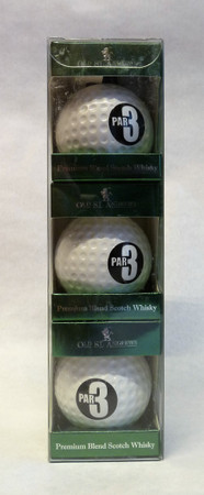 Old St. Andrews Par 3 Whisky GOLF BALLS –  Blended Scotch Whisky 40%Vol. 3x0,05L – Bild 1