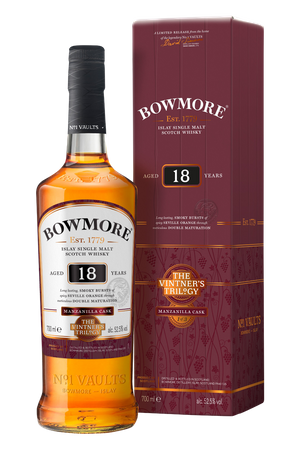BOWMORE Vintner's Trilogy 18 Year Old Double Matured Manzanilla Cask -  Single Islay Malt Whisky 52,5% 1x0,70L