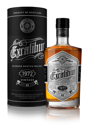 EXCALIBUR - 45 YEARS 1972 VINTAGE DELUXE BLENDED SCOTCH WHISKY - 42,2%Vol. 0,7L
