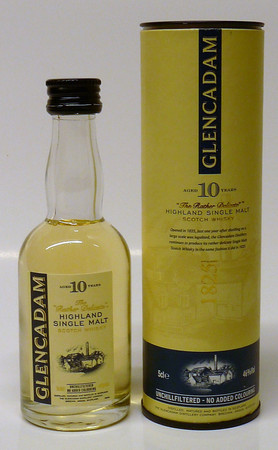 GLENCADAM 10 Jahre Miniatur - Highland Single Malt Whisky 46% 1x0,05L
