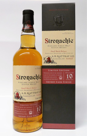 A.D.Rattray - STRONACHIE 10 (Benrinnes) - LIMITED SHERRY EDITION - Highland Single Malt Whisky 1x0,7L 46%
