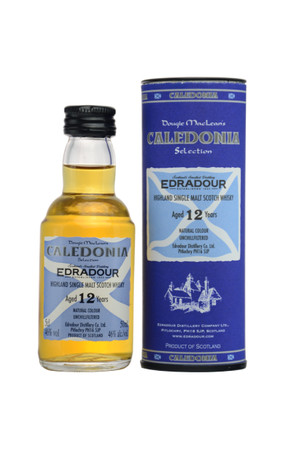 Edradour 12 y.o. CALEDONIA - Single Highland Malt Scotch Whisky 46%vol 1x0,05L Miniatur