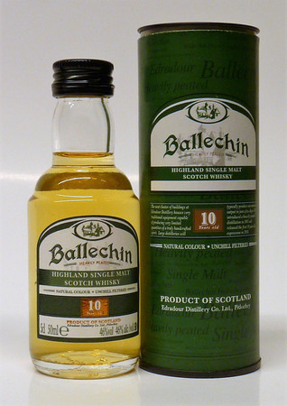 BALLECHIN (Edradour) 10 y.o. - Single Highland Malt Scotch Whisky 40%vol 1x0,05L Miniatur