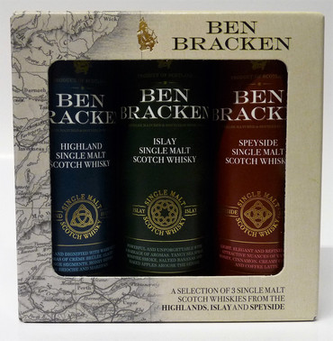 Ben Bracken MINIATUR SET - Single Malt Scotch Whisky 40% Vol. 3x 0,05L Islay/Highland/Speyside – Bild 1