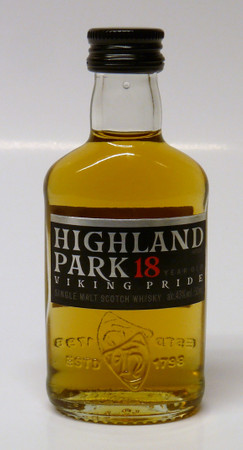 HIGHLAND PARK 18 Jahre - Orkney Island Single Malt Whisky 43% 1x0,05L Miniatur