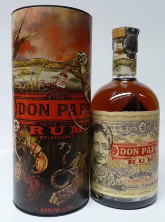 Rum DON PAPA 7 Jahre 40%vol 1x0,70L in GP / Tube – Bild 1