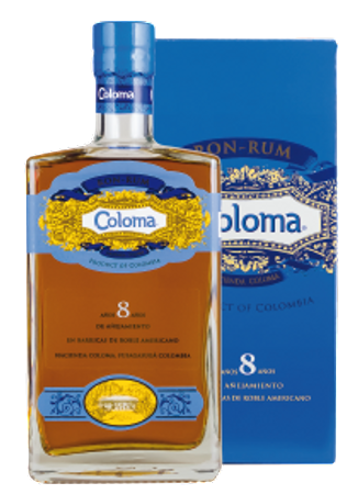 COLOMA - Ron-Rum 8 Jahre - Hacienda Coloma Colombia/Kolumbien 40%vol 1x0,70L