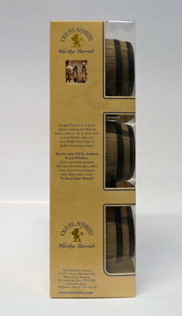Old St. Andrews - WHISKY BARRELS - Tasting Set - Blended Scotch Whisky 40%Vol. 3x0,05L Miniaturen – Bild 2