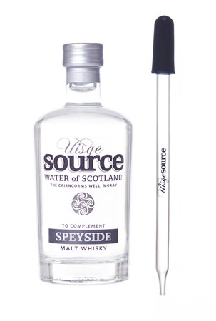 "UISGE SOURCE ""SPEYSIDE"" Water of Scotland (for Whisky) 95ml + Glaspipette – Bild 1"