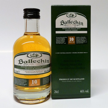 BALLECHIN (Edradour) 10 y.o. - Single Highland Malt Scotch Whisky 40%vol 1x0,2L
