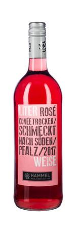 WEINGUT HAMMEL / PFALZ - LITERWEISE - CUVEE ROSE - 12 Flaschen a. 1,0L 11,5% vol. QbA trocken  – Bild 2