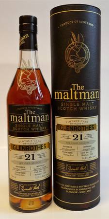 GLENROTHES 21y 1996 - The Maltman - SPEYSIDE SINGLE MALT WHISKY - 51,1%Vol. 0,7L only 534 Bottles
