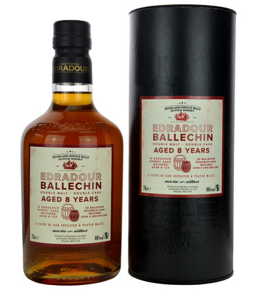 EDRADOUR/BALLECHIN 8 y.o. Cuvee - Highland Single Malt Scotch Whisky 46%vol 1x0,70L