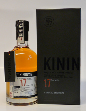 KININVIE 17 Years 1996 Batch No.1 42,6 %Vol. 1x0,35L  - Single Speyside Malt in Geschenkpackung