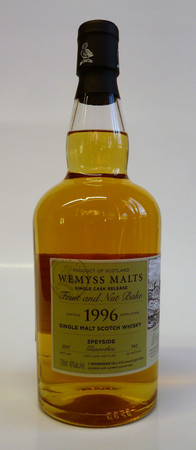 "WEMYSS - GLENROTHES 21y. 1996 - ""FRUIT AND NUT BAKE"" - 46%vol. 1x0,70L 342 Bottles"
