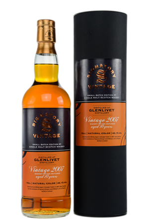 GLENLIVET VINTAGE 2007 10y Sherry Cask  48,1%Vol. 1x0,7L - Signatory Vintage Small Batch Edition No.1