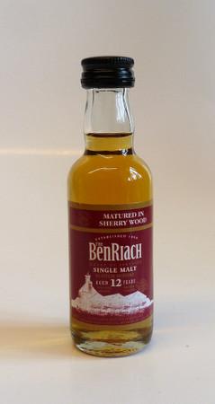 BENRIACH 12 y.o. Sherry Wood MINIATUR - 46%Vol.- 1x0,05L - Single Malt Whisky