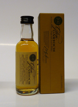 GLEN GARIOCH 12 Jahre -  Single Highland Malt Whisky 48% 1x0,05L Miniatur