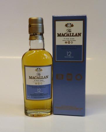 THE MACALLAN Fine Oak 12 Years - Single Malt Whisky 40% 1x0,05L MINIATUR