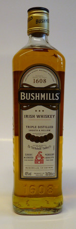 BUSHMILLS ORIGINAL Triple Distilled  - IRISH BLENDED MALT WHISKEY 1x0,7L 40%
