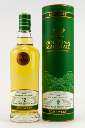 BALBLAIR 12 Years G&M Discovery - New Range - Highland Single Malt Whisky 43% 1x0,7L – Bild 1