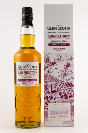 GLEN SCOTIA 2008 VINTAGE - Campbeltown Malts Festival 2018 1x0,7L 57,8%vol. – Bild 1