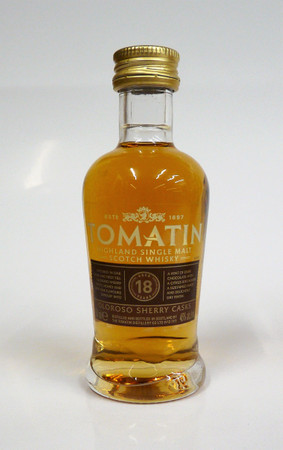 TOMATIN 18 years old - Highland Single Malt Whisky 46%vol 1x0,05L MINIATUR