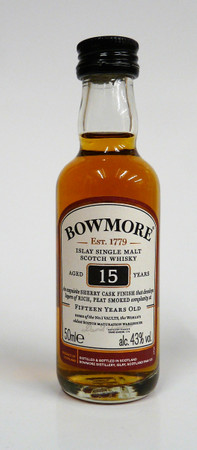 BOWMORE 15 Jahre SHERRY CASK -  Single Islay Malt Whisky 43% 1x0,05L Miniatur