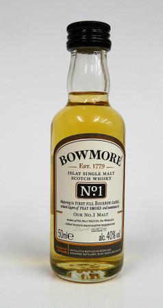 BOWMORE No.1 -  Single Islay Malt Whisky 40% 1x0,05L Miniatur