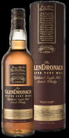 GLENDRONACH PEATED PORT WOOD  - Highland Single Malt Whisky 46% 1x0,70L