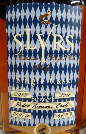 SLYRS SINGLE CASK - PEDRO XIMÉNEZ  Cask Strength - Bavarian Single Malt Whisky 54,1% - 54,6% 1x0,70L – Bild 2
