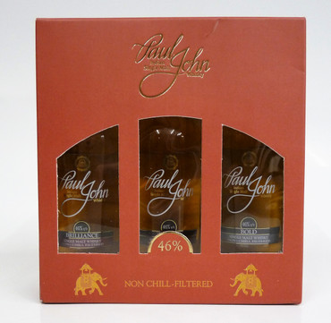 PAUL JOHN - MINIATUR TRI PACK - Single Malt Whisky Indien 46%vol. 3x0,05L