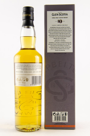 GLEN SCOTIA 10 Years PEATED - Campbeltown Single Malt Scotch Whisky 1x0,7L 46%vol. – Bild 2