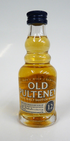 OLD PULTENEY 12 y.o. - Single Highland Malt Scotch Whisky 40%vol 1x0,05L MINIATUR