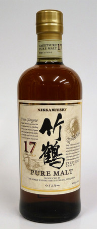 NIKKA PURE MALT TAKETSURU 17 Years - 43%vol 1x0,70L - Japan Blended Malt Whisky – Bild 1