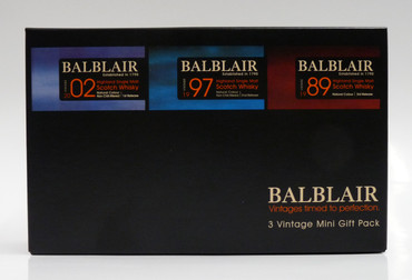 BALBLAIR 3 VINTAGE MINI GIFT PACK - Single Malt Whisky 46% 3x0,05L Miniatur Pack – Bild 1