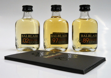 BALBLAIR 3 VINTAGE MINI GIFT PACK - Single Malt Whisky 46% 3x0,05L Miniatur Pack – Bild 3