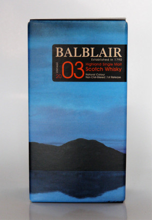 BALBLAIR 2003 VINTAGE  - Single Malt Whisky 46% 1x0,05L Miniatur
