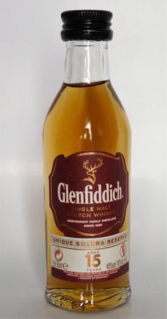 GLENFIDDICH 15 Jahre  - Speyside Single Malt Whisky 40% 1x0,05L MINIATUR