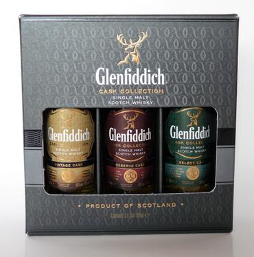 GLENFIDDICH CASK COLLECTION MINIATUR SET  - Single Malt Whisky 40% 3x0,05L