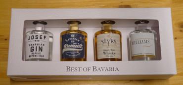 BEST OF BAVARIAN - 4 Miniaturen von Lantenhammer + Slyrs 43% 4x0,05L Miniatur – Bild 1